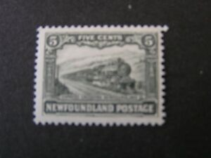 NEWFOUNDLAND-SCOTT-149-5c-VALUE-SLATE-GREEN-1928-EXPRESS-TRAIN-ISSUE-MH