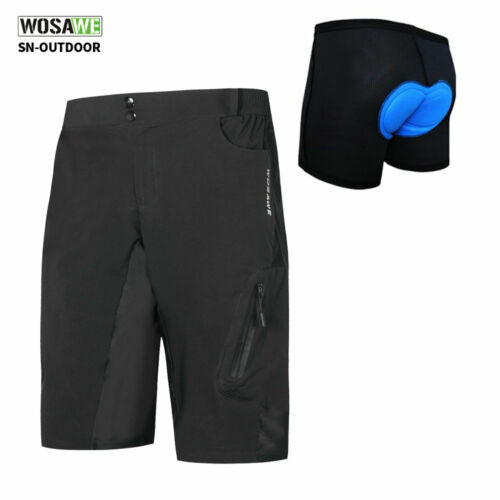 Men/'s Mountain bike shorts MTB Baggy cycling pants Padded casual Bicycle shorts
