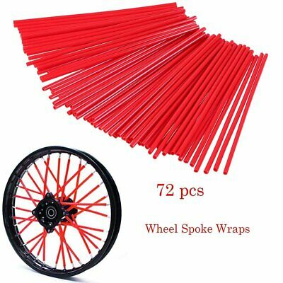 Orange Spoke Cover 72 pcs Motorcycle Spoke Skins Covers Kit Universal Motocross Wheel Rim Spoke Cover Wraps Shrouds Skins Covers