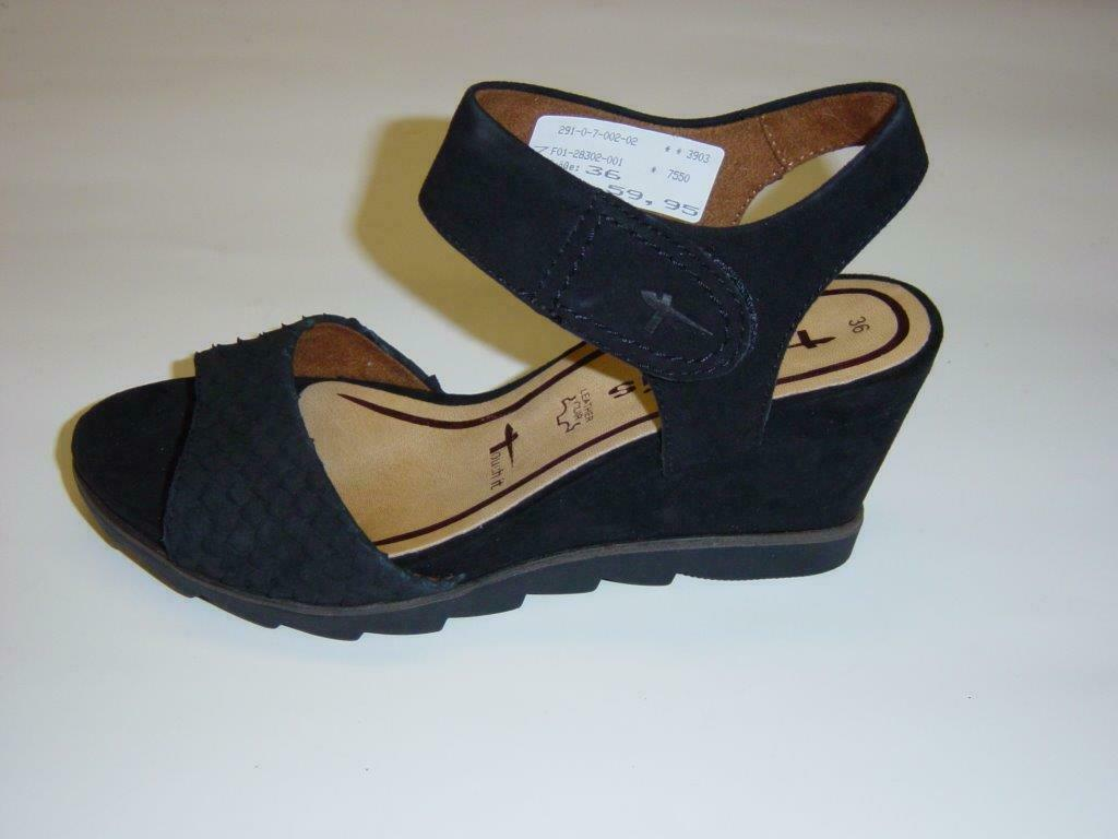 Tamaris Keil-Sandaletten   black   Veloursleder   Größe 38 (Sandalen)