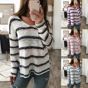 Autumn Winter Sweater Women V-Neck Pullovers Knitted Sweater Loose Long Sleeves Tops KS-Shipping Black