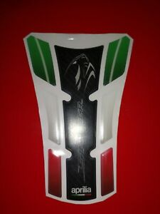 Red//White Prot/ège R/éservoir Moto Tank Pad Sticker Autocollant Aprilia Shiver
