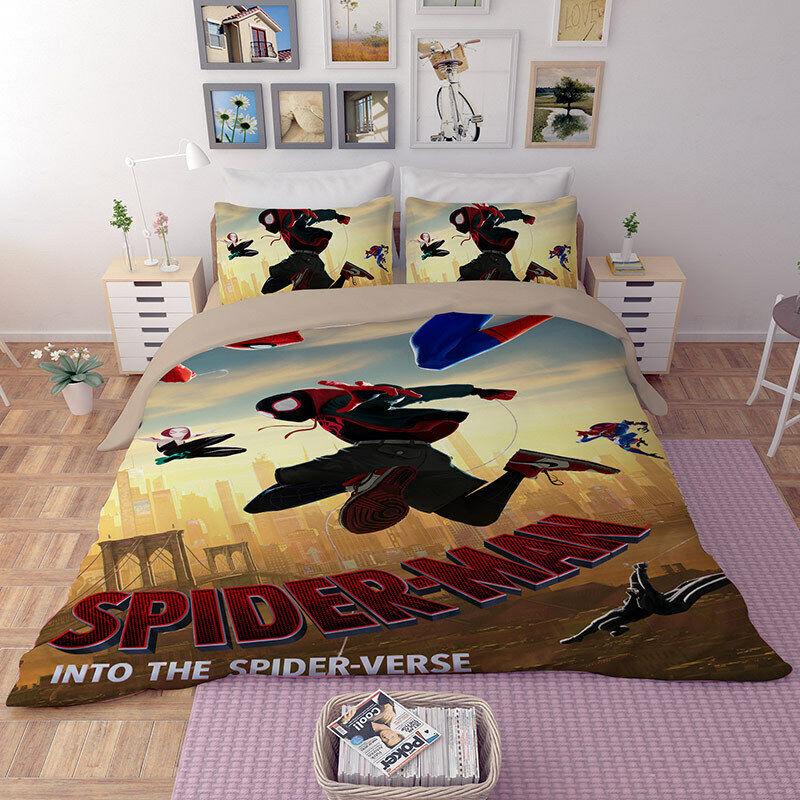 Spiderman 3D Bedding Set Duvet Doona Quilt Cover Bed Set Pillowcase Sheet New