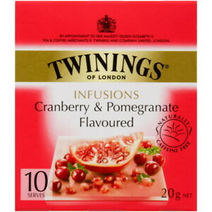 Twinings Cranberry & Pomegranate Flavoured Tea Bags 10 pack 20g