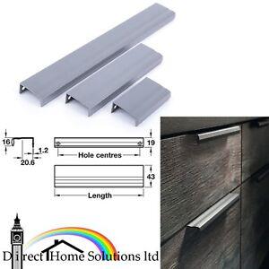 Hafele Line Aluminium Profil Poignee Matt Anthracite Finition