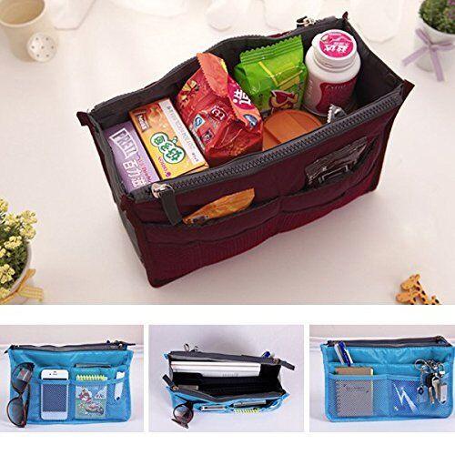 Purse Organizer Insert Women Travel Insert Handbag Liner Tidy Organise... - s l1600