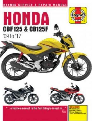 Automobilia Haynes Workshop Manual Honda CBF125 2009-2017 New ...