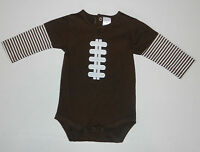 Cre8ions Baby Boys Long Sleeve Football Bodysuit Romper Size 9m 9months