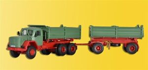 Kibri-14063-MAGIRUS-DEUTZ-230-D-26-AK-con-remolque-kit-construccion-H0