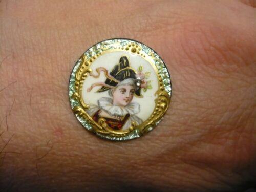 Médaillon émaux sur cuivre ancien 19ème 2,2 cm de diamètre   eBay