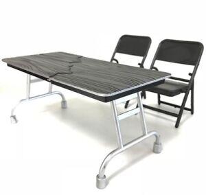 1/12 Maßstab Schwarz Spielzeug Faltbar Stuhl X 2 & Breakaway Tisch X 1 Grade Produkte Nach QualitäT Film, Tv & Videospiele Fc-ut-bk
