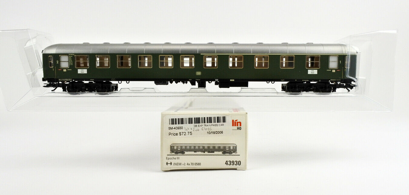 MARKLIN HO SCALE 43930 DB EXPRESS GREEN 1ST 2ND CLASS PASSENGER CAR