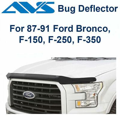 Auto Ventshade 25439 Bugflector II Dark Smoke Hood Shield for 1987-1991 Ford Bronco F-150 F-250 /& F-350 Super Duty