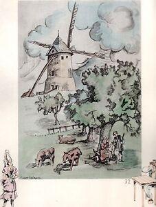 Marque Populaire Aquarelle Couleur Vieux Moulin / Moulin De Flers De L'orne ( Orne ) Disponible Dans Divers ModèLes Et SpéCifications Pour Votre SéLection
