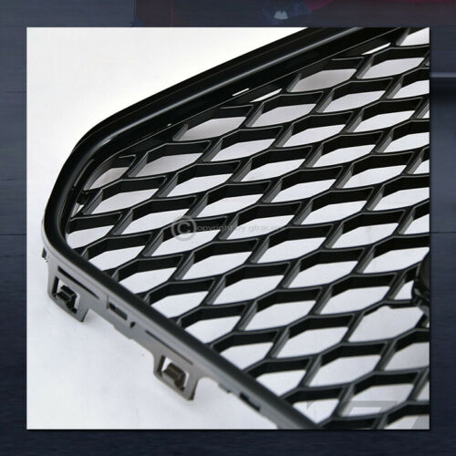 For 2013-2016 Audi A5 B8.5 B9 Black RS Sport Honeycomb Mesh Front Bumper Grille