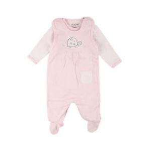 Body Fixoni Baby M/ädchen Strampler rosa mit Elefant