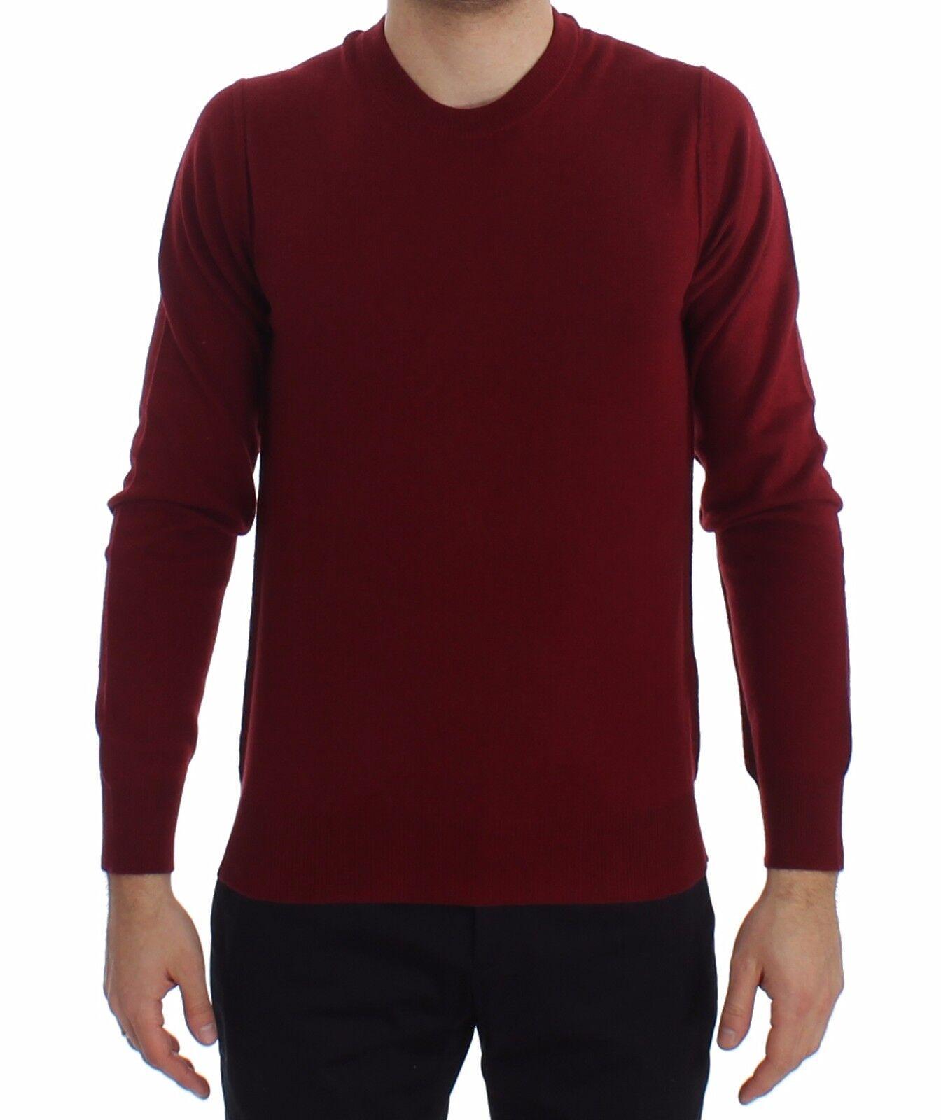 Nuevo Dolce & Gabbana Jersey Rojo Cachemira Cuello ROTondo Jersey IT52 / US42/L