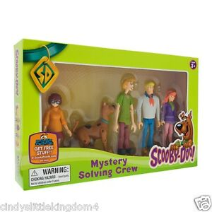 Scooby-Doo-Mystery-Solving-Crew-5-articulated-poseable-figures-set-DAMAGED-BOX