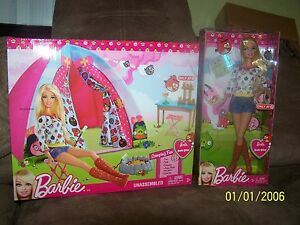 Image is loading Barbie-Angry-Birds-Tent-and-Doll-Set-NEW  sc 1 st  eBay & Barbie Angry Birds Tent and Doll Set - NEW!   eBay