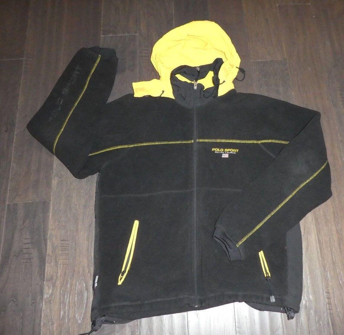 Polo  Sport Ralph Lauren Vintage Chaqueta Tamaño Grande Negro Amarillo Usado  Esperando por ti