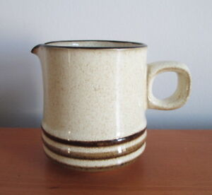Denby-Sahara-Creamer-3-1-4-034-Speckled-Brown-Stripe-1980s-Stoneware-England