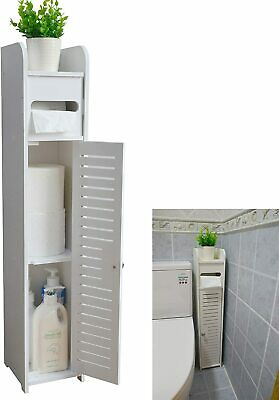 Small Bathroom Corner Storage Cabinet Floor Doors Shelves Thin Toilet Vanity New Ebay