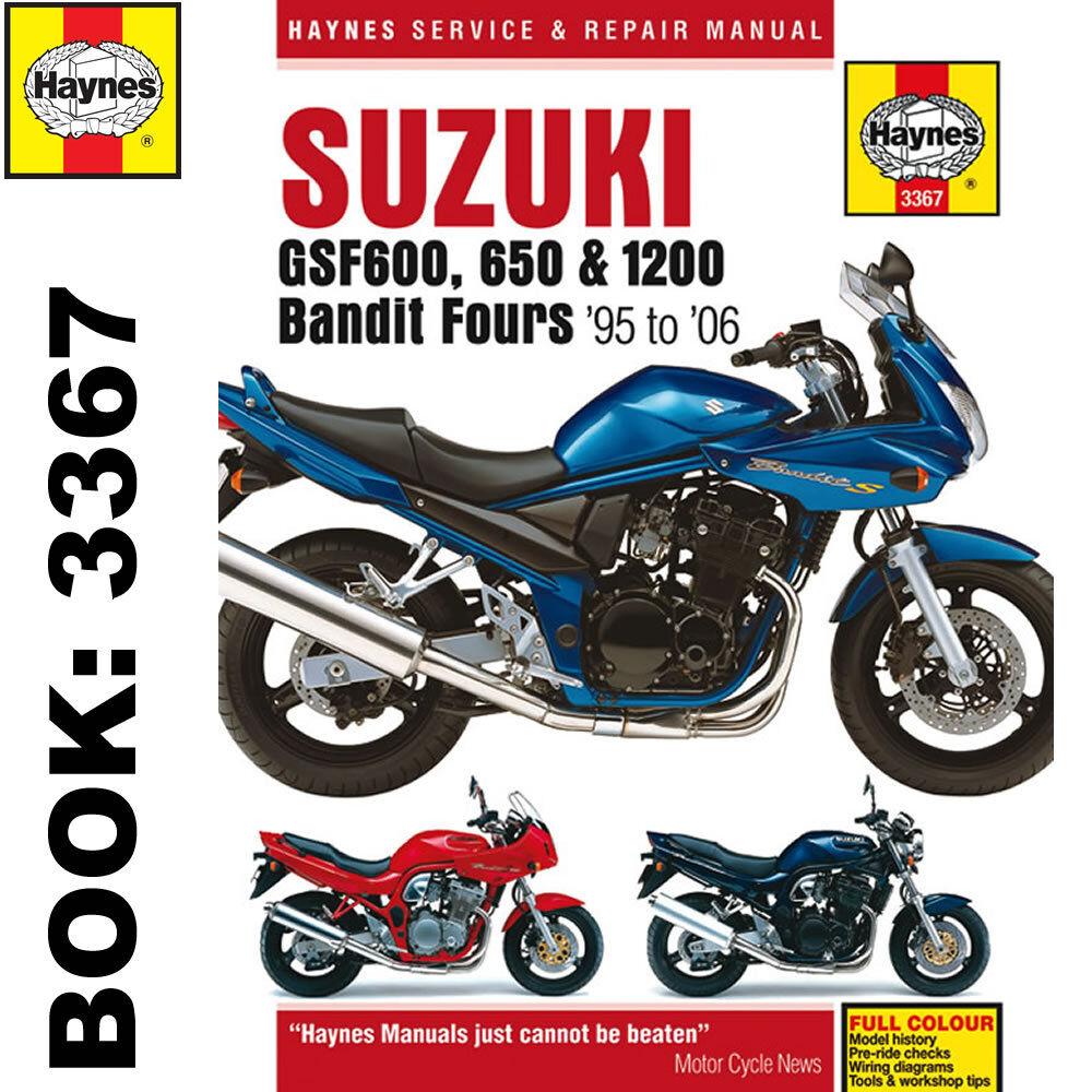 suzuki gsf600 650 1200 bandit fours haynes manual ebay rh ebay co uk 1996 Suzuki  Bandit 600 Rider 1996 Suzuki Bandit 600 Cafe