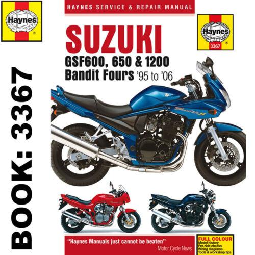 suzuki gsf600 650 1200 bandit fours haynes manual ebay rh ebay co uk suzuki gsf 400 vc service manual suzuki bandit 400 workshop manual download