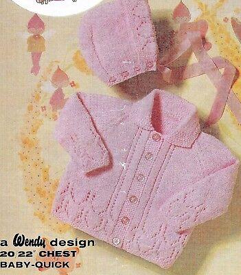 """Baby//toddler cable detail cardigan knitting pattern 18/""""-24/"""" DK 124"""