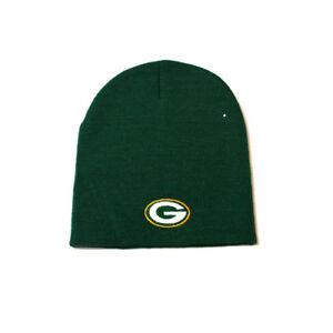 GREEN BAY PACKERS BEANIE NFL TEAM APPAREL ADULT CUFFLESS HAT UNISEX ... 6f762a5ae5ed