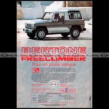 ★ BERTONE FREECLIMBER 1990 ★ Pub AUTO 4X4 Publicité Off-Road Advert #A141