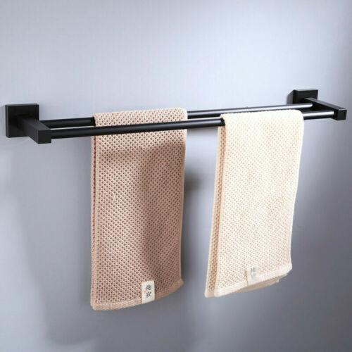 2 armig Schwarz Handtuchhalter Bad Wand Badetuchstange Handtuchhaken 60cm
