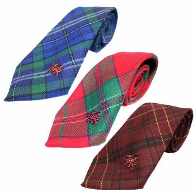 Made In Scotland Men/'s House Of Edgar Welsh Tartan Ties 100/% Wool