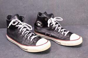 CB256-Converse-All-Star-Classic-Chucks-High-Top-Sneaker-Gr-39-5-Leder-schwarz