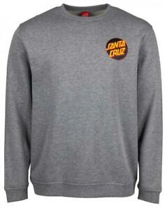 SANTA-CRUZ-OTHER-DOT-CREWSWEAT-DARK-HEATHER