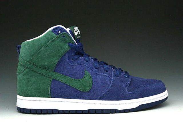best service 09584 97ff8 RARE Nike Dunk High Pro SB Seattle Seahawks 11 Deep Royal Noble Green  305050-402 for sale online   eBay