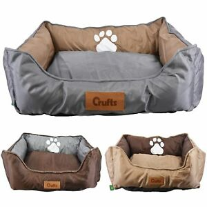 Crufts-Waterproof-Padded-Pet-Bed-Dog-Cat-Mat-Cushion-Mattress-Washable-Pillow