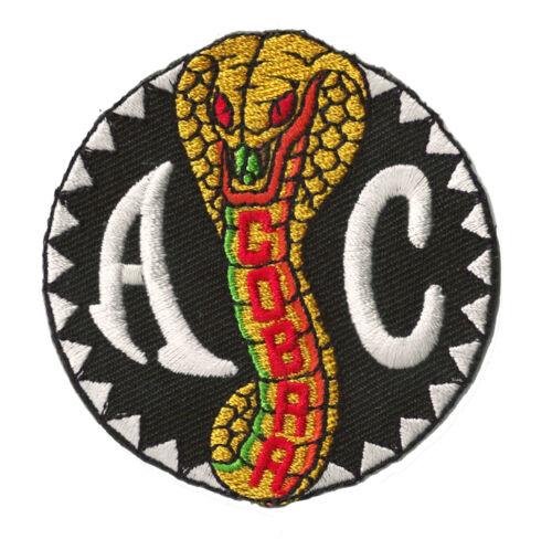 Aufnäher Flicken Flicken AC Cobra Logo Abzeichen gelten Hotfix Inschrift