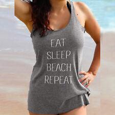 Women Letters Sleeveless O-Neck Summer Ladies Vest Tank Tops Shirt Blouse S