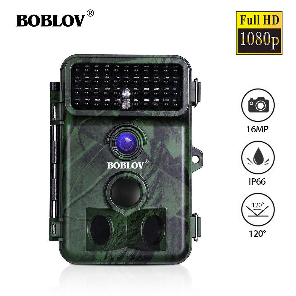 BOBLOV 16MP 1080P Deer Hunting Game Camera IP66 Waterproof Wild Camera With Belt
