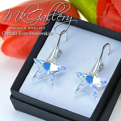 20mm Crystal AB 925 Sterling Silver Earrings Crystals from Swarovski® STAR
