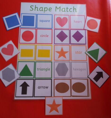 Corrispondenza con le forme e forme nome GAME-Autismo//SEN//pre-scuola//eyfs//riconoscimento