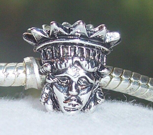 Statue of Liberty Head New York City NYC Landmark Charm for European Bracelets