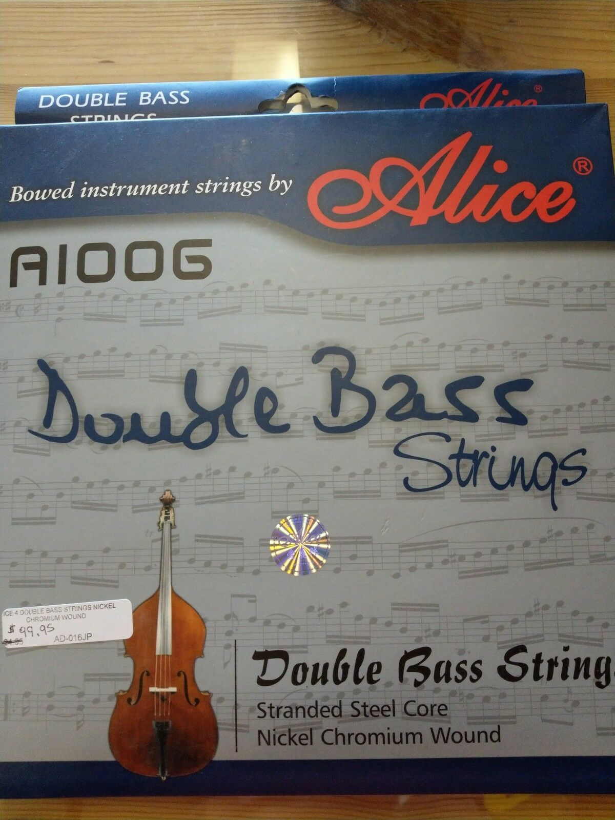 Double bass strings set 4 strings new  Alice brand