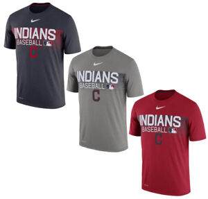 affc7144 Details about Cleveland Indians 2018 Authentic Collection Legend Team Issue  T-Shirt