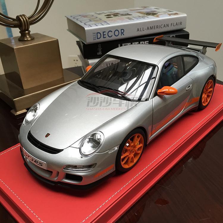 Nouveau 1 12 AUTOart Diecast Porsche 911 997 GT3 RS ouvrir fermer Modèle De Voiture Argent