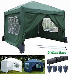 3x3m-Pop-Up-Gazebo-Waterproof-Outdoor-Garden-Marquee-2-Windbars-4-Leg-Weight-Bag
