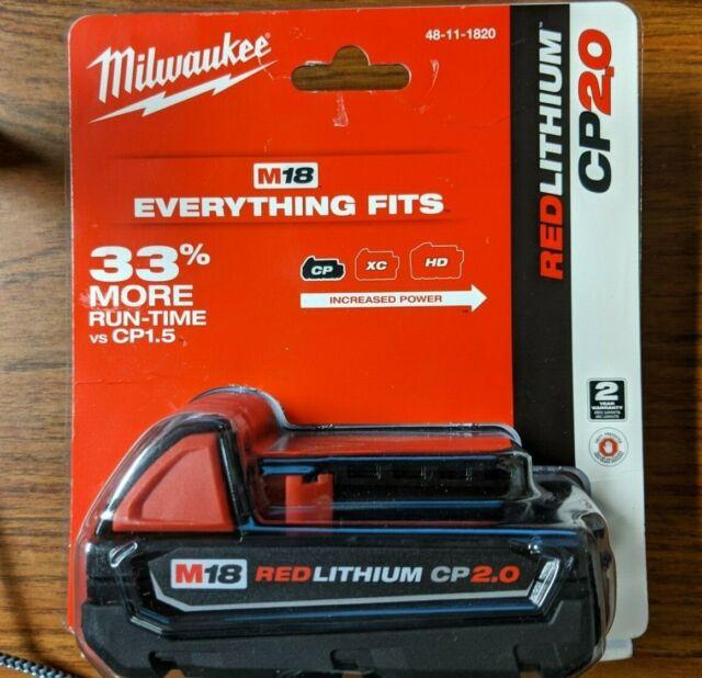 Milwaukee M18 RedLithium CP 2.0 Battery Pack 48-11-1820 BRAND NEW