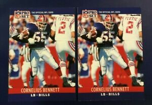 1990-Pro-Set-39-CORNELIUS-BENNETT-Lot-2-Buffalo-Bills-Linebacker-LOOK