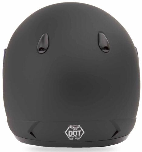 Gmax GM38 Flat Black Motorcycle Street Bike Helmet Pick Size
